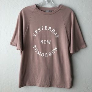 Zara Collection Graphic Tee Pink S